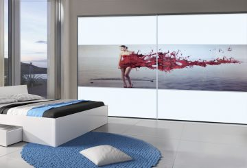 ארון הזזה Smart Line Glossy Decor עם הדפס מיוחד